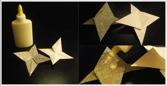 Diy une d co de no l l gante tr s facile r aliser - Decoration de noel en origami ...