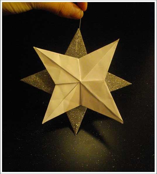 Diy une d co de no l l gante tr s facile r aliser - Origami sapin de noel facile ...