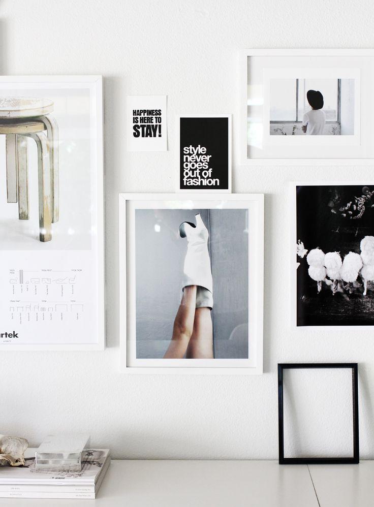 cadres au mur, idées déco murale