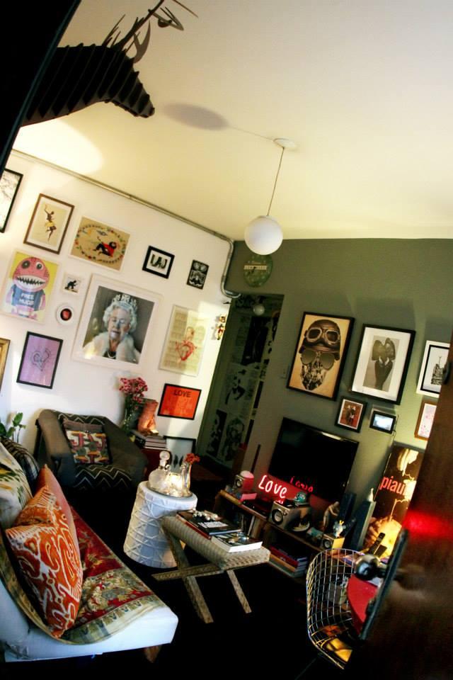 appartement éclectique vintage coloré
