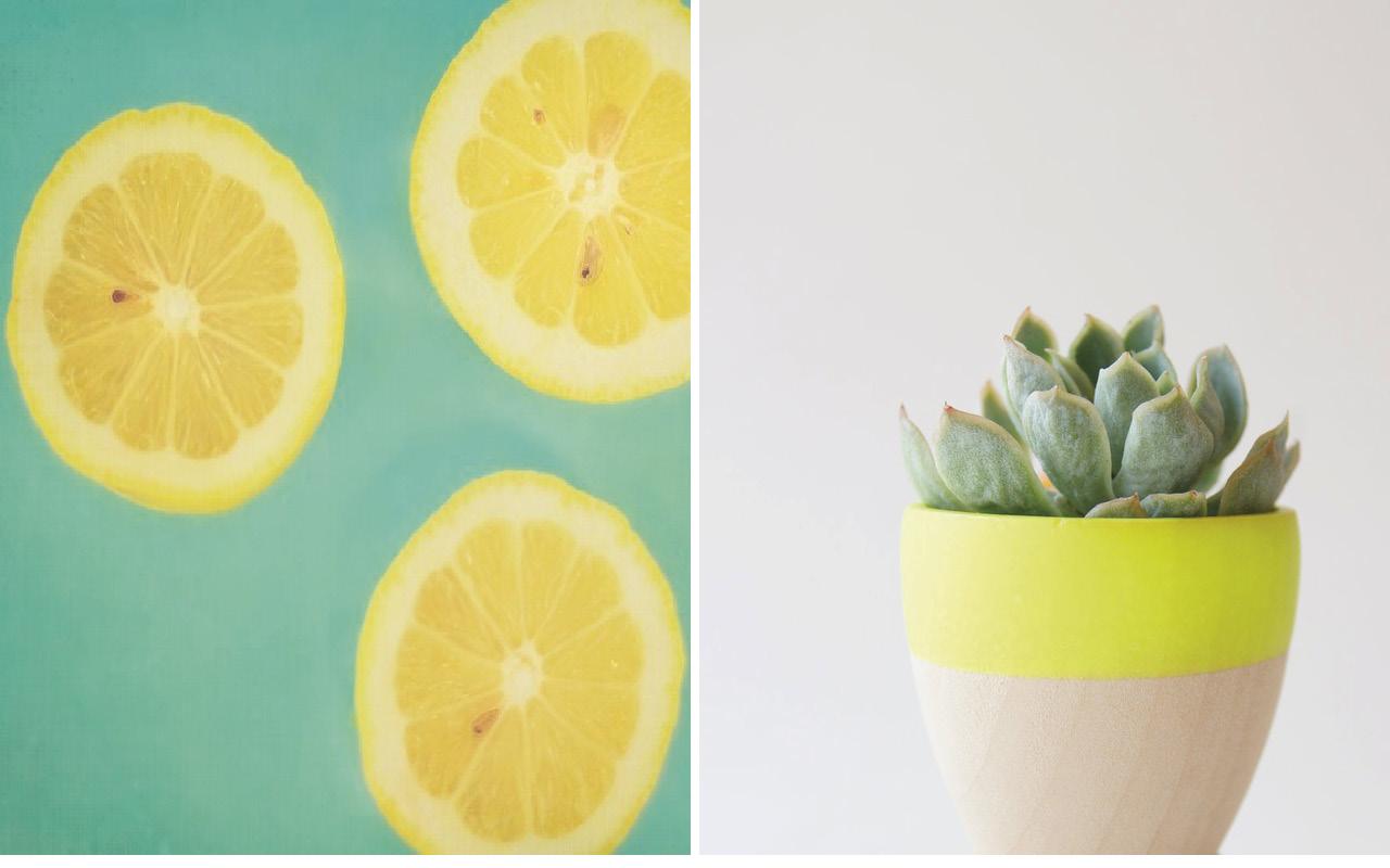 Deco vert et jaune - Inspirations blog DECOuvrir design