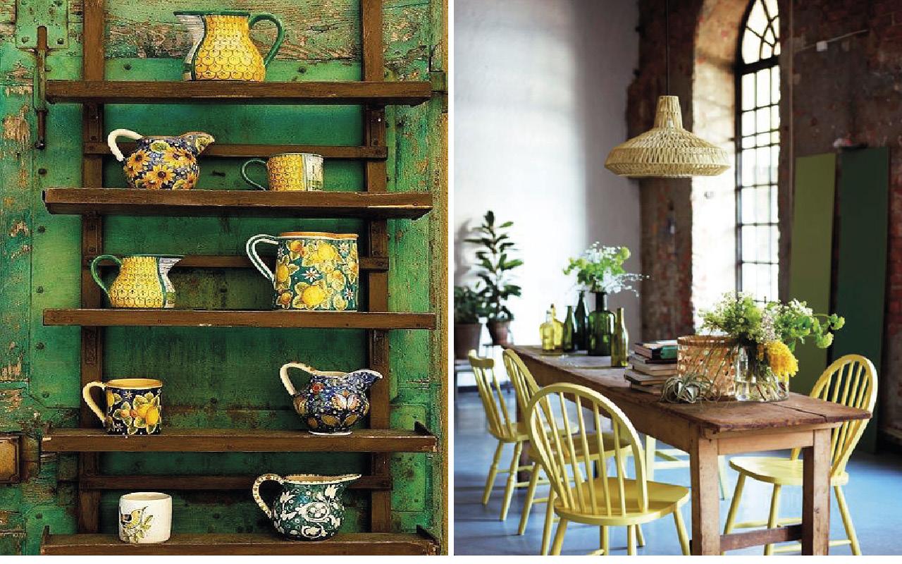 Deco vert et jaune 1- Inspirations blog DECOuvrir design