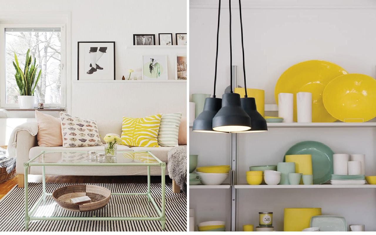Deco vert et jaune - Inspirations blog DECOuvrir design3
