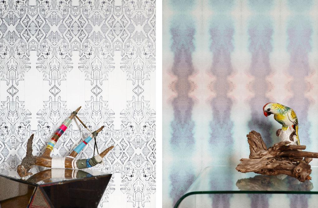 Eskayel - Papier peint tye-dye et graphique