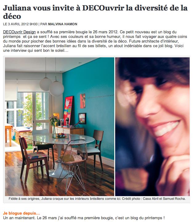 DECOuvrir design - Le Top des Blogs Côté Maison