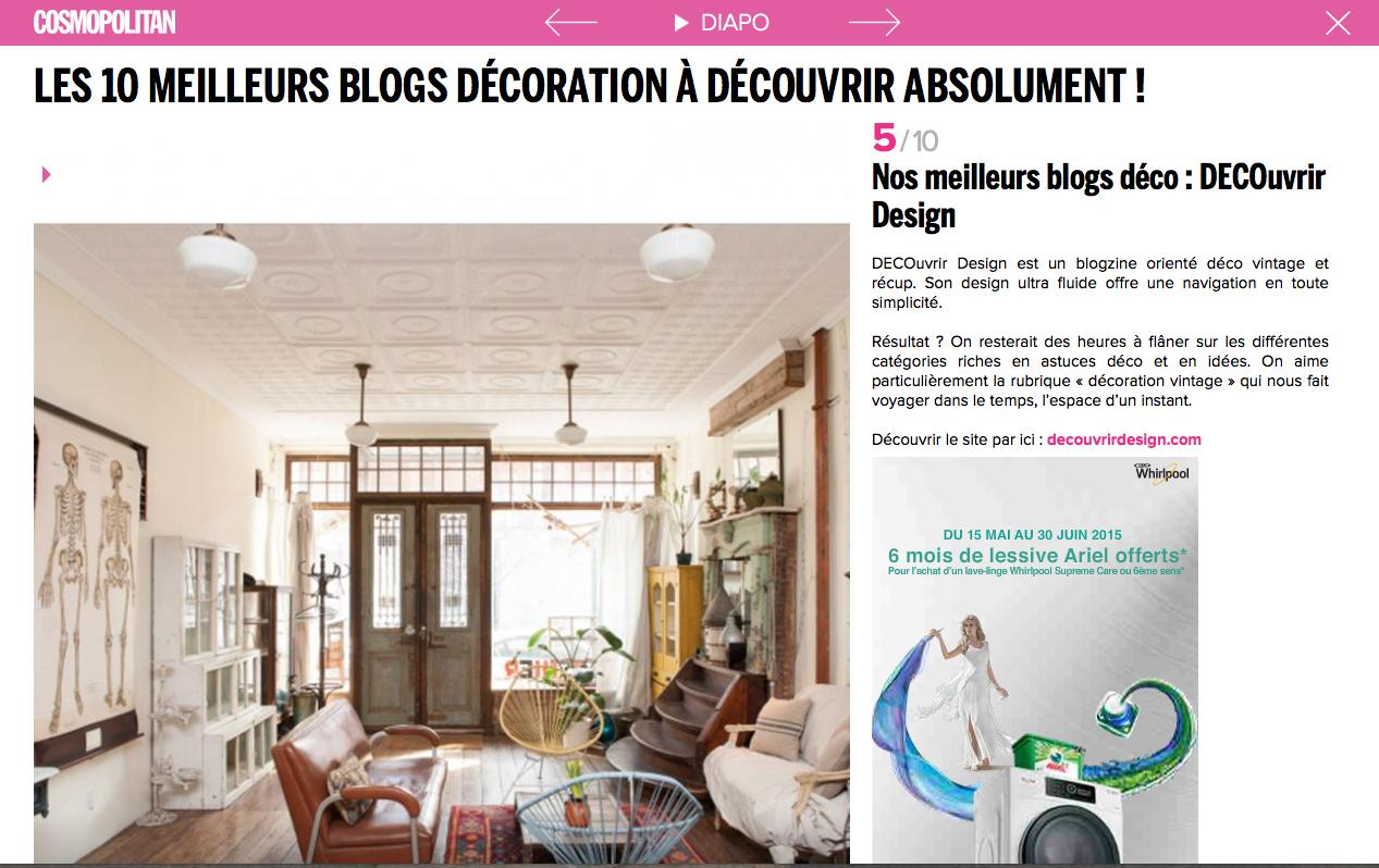 DECOuvrir design_est_l'un_des_meilleurs_blog_deco_selon_Cosmopolitan_France