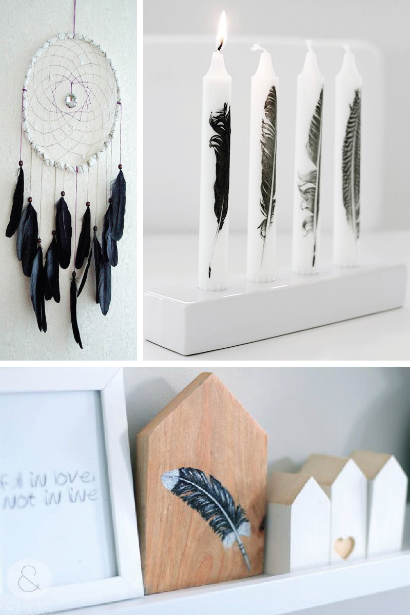 Inspiration plumes id es pour une d co styl e trendy et pas ch re dec - Diy decoration maison ...