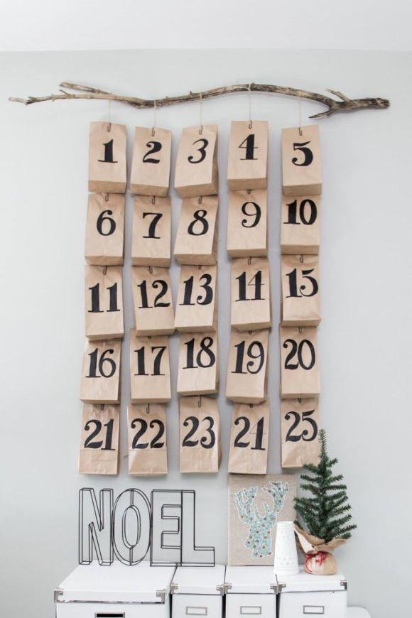 diy id es pour cr er un calendrier de l 39 avent graphique et styl decouvrirdesign. Black Bedroom Furniture Sets. Home Design Ideas