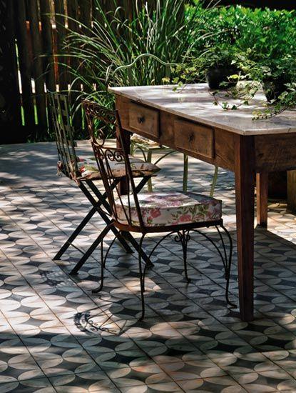 Carreaux de ciment donner du style la d co de votre maison ou encore vo - Carreaux de ciment exterieur ...