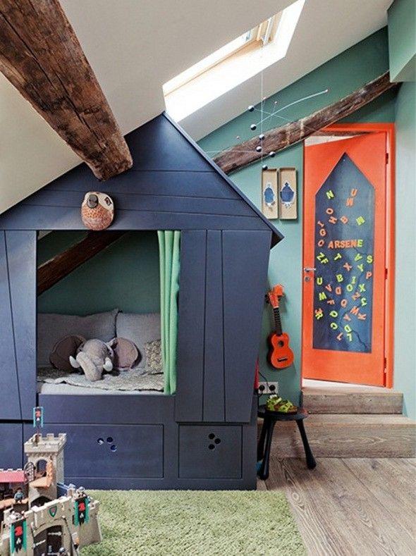 Des id es et des inspirations pour r aliser un lit cabane dans la chambre de - Cabane pour lit enfant ...