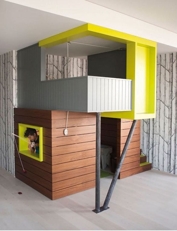 des id es et des inspirations pour r aliser un lit cabane dans la chambre de son enfant. Black Bedroom Furniture Sets. Home Design Ideas