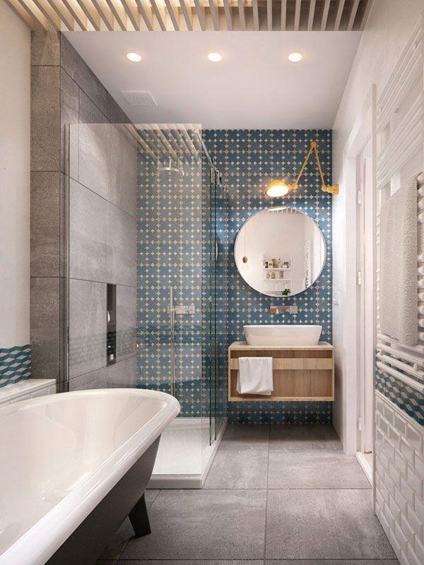Des touches déco pour une salle de bain contemporaine ...