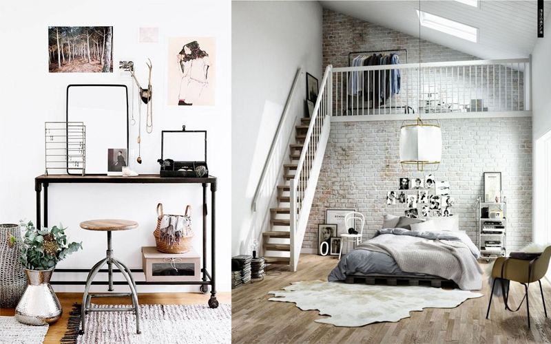 style scandinave et industriel. Black Bedroom Furniture Sets. Home Design Ideas