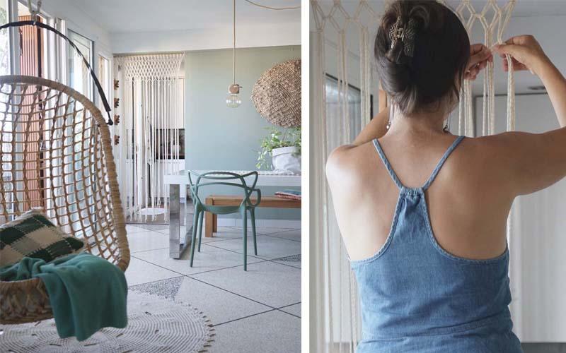 DIY : J'ai réalisé un rideau en macramé chez moi (tuto inside ...
