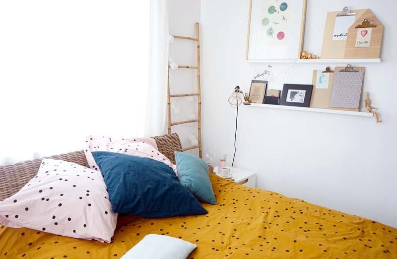 déco chambre et du linge de lit tendance