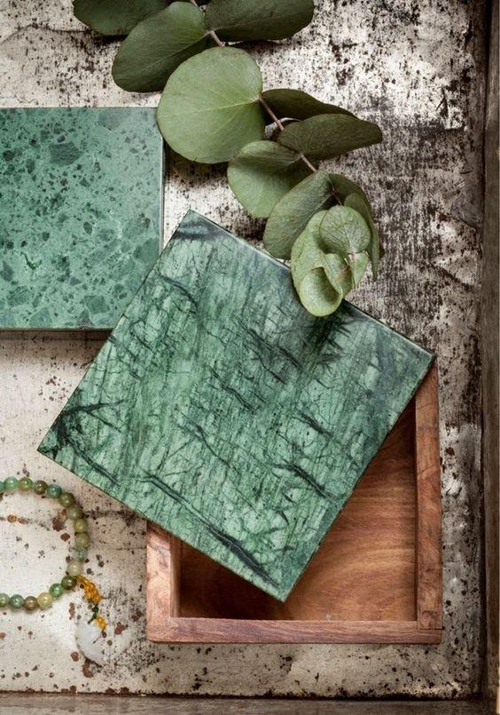 marbre vert dans la déco