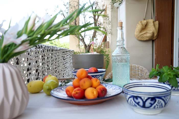 décorer une table d'été
