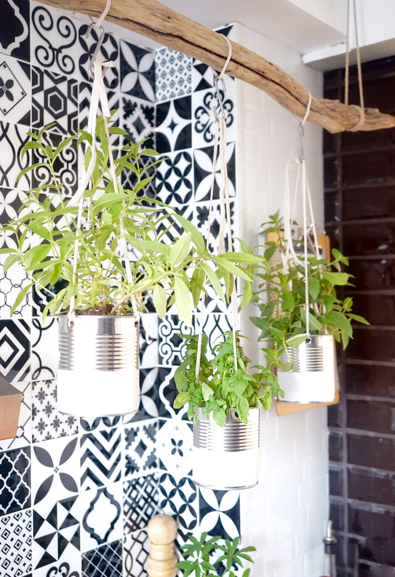 diy jardin aromatique suspendu
