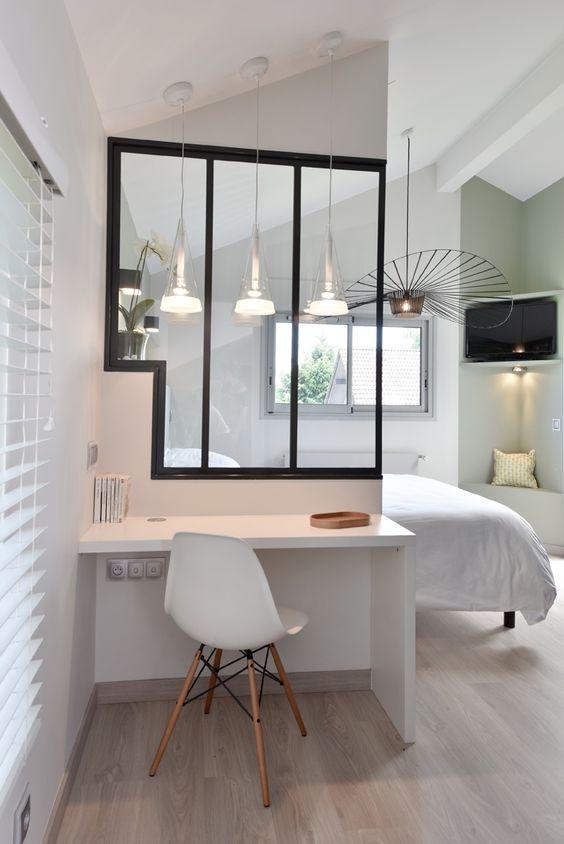 Le on de stylisme id es pour une chambre en noir et - Deco de chambre noir et blanc ...