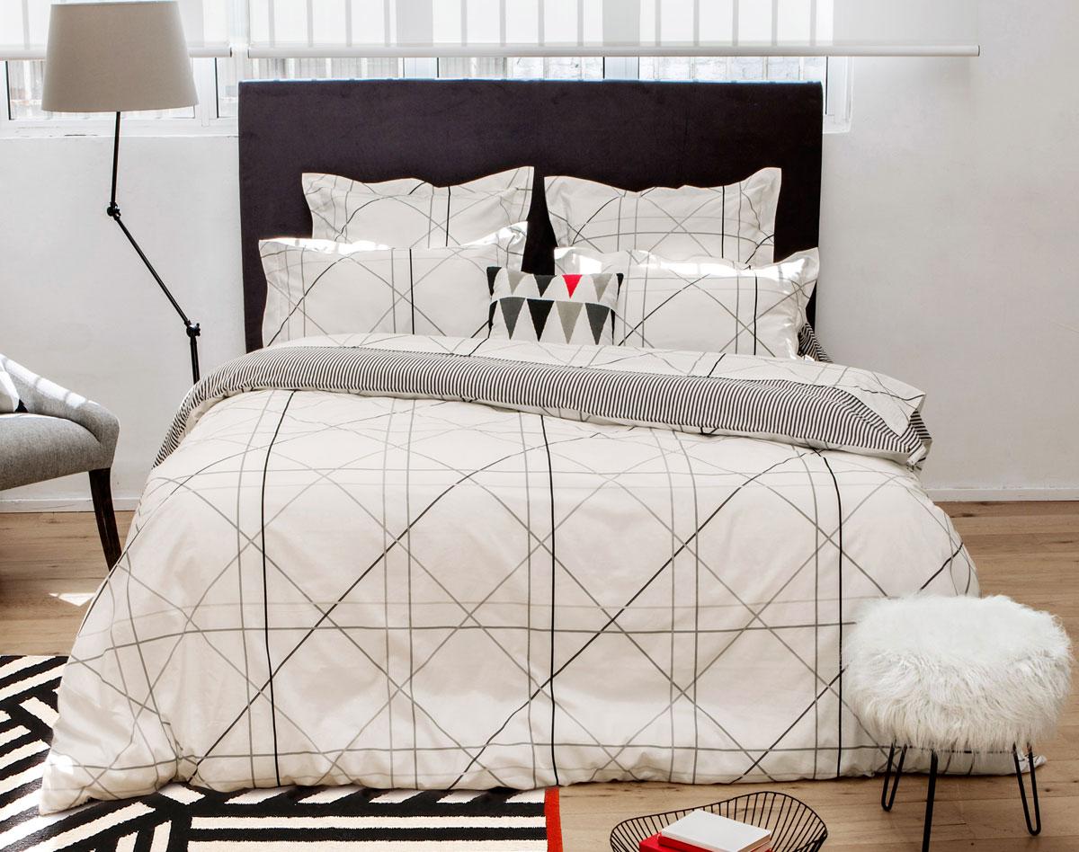 de l 39 inspiration pour une parure de lit tendance decouvrirdesign. Black Bedroom Furniture Sets. Home Design Ideas