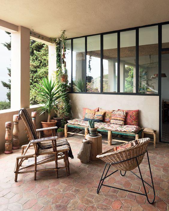 8 astuces pour une d co terrasse boh me decouvrirdesign. Black Bedroom Furniture Sets. Home Design Ideas