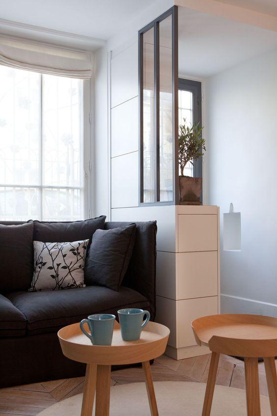des id es pour cr er et d limiter un espace entr e. Black Bedroom Furniture Sets. Home Design Ideas