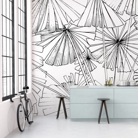 Mix And Match Papier Peint Et Peinture On Donne Le Ton A La Deco Decouvrirdesign