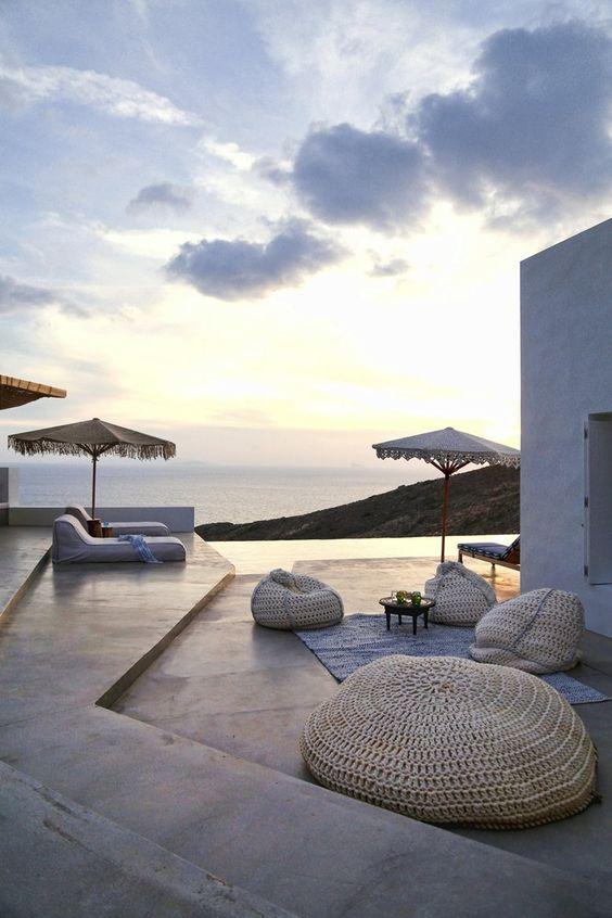 Terrasse à la grecque | DecouvrirDesign