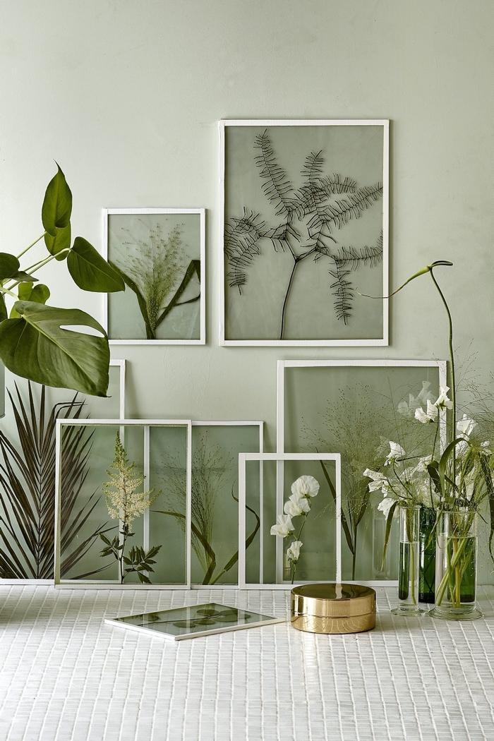 Cadre Vegetal Diy Décoration Murale De Sous Verre Cadres Herbier