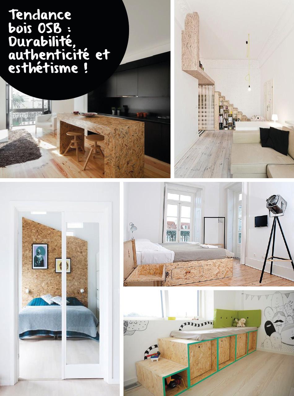 le panneau bois osb une tendance retenir pour la d co decouvrirdesign. Black Bedroom Furniture Sets. Home Design Ideas