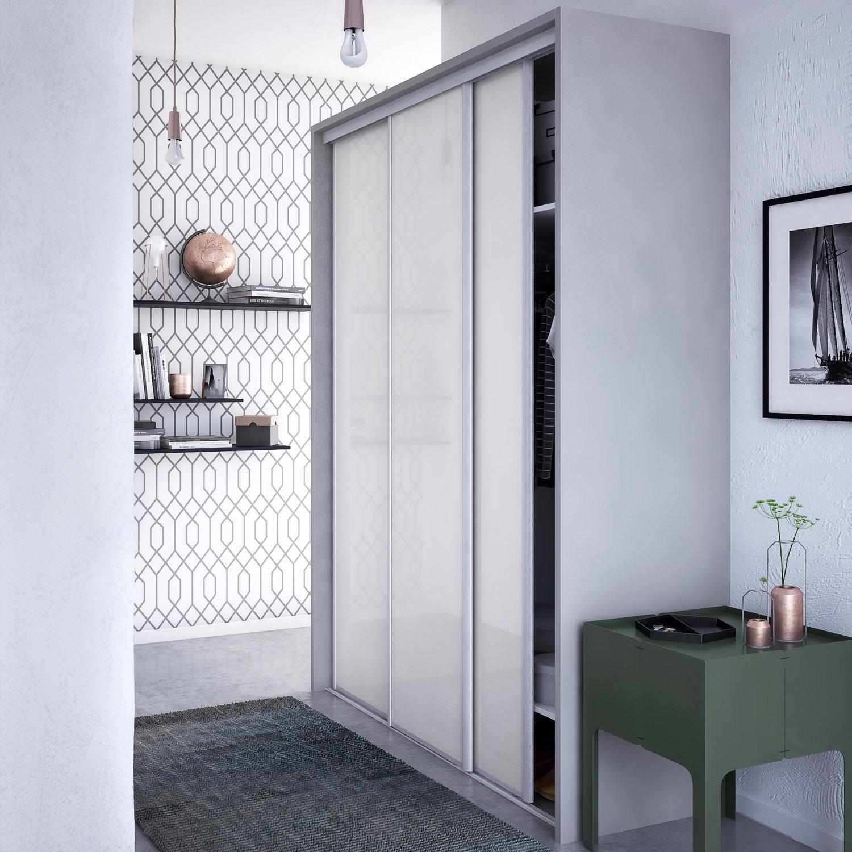 Porte Placard Coulissante Diy porte-de-placard-coulissante-laquee-blanc-spaceo-250x67cm